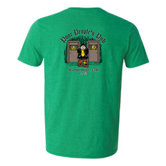 "Poor People's Pub 1985 ""Wipe It, Shake It"" T-Shirt in Heather Irish Green"