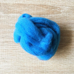 Needle felted wool felting Indigo Blue wool Roving for felting supplies short fabric easy felt