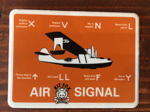Ground to Air Signaling Sticker