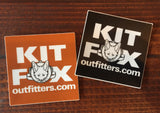 "KFO Logo ""Get The Fox Out There!"" Square Sticker"