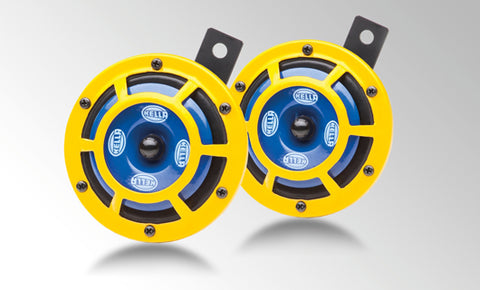 HELLA Sharptone Horn Set Yellow