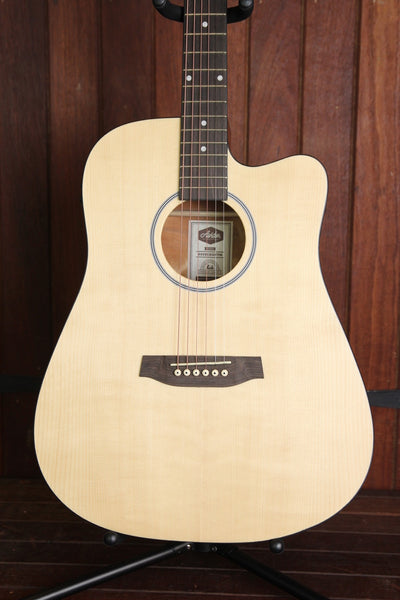 Ashton D20CEQ Dreadnought Cutaway Acoustic Guitar +  Hardcase Deal