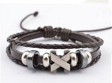 Leather and Titanium Bracelet