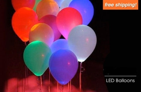 Package of 10 LED Balloons