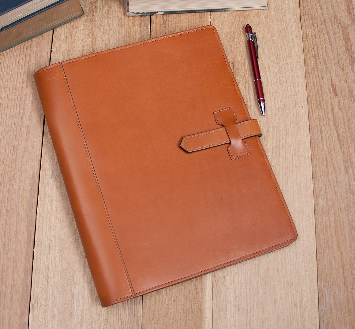 Executive Leather 3 Ring Binder Pad folio – Style # 303