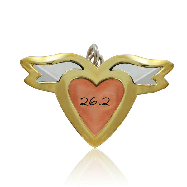 13.1 & 26.2 Heart With Wings Pendant