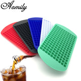 Whiskey, Juice, Wine, Drink Ice Cube Maker - Food Grade Silicone 160 Cubes