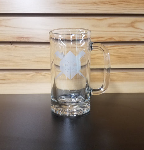 Wheeling Nailers 16oz Glass Beer Mug