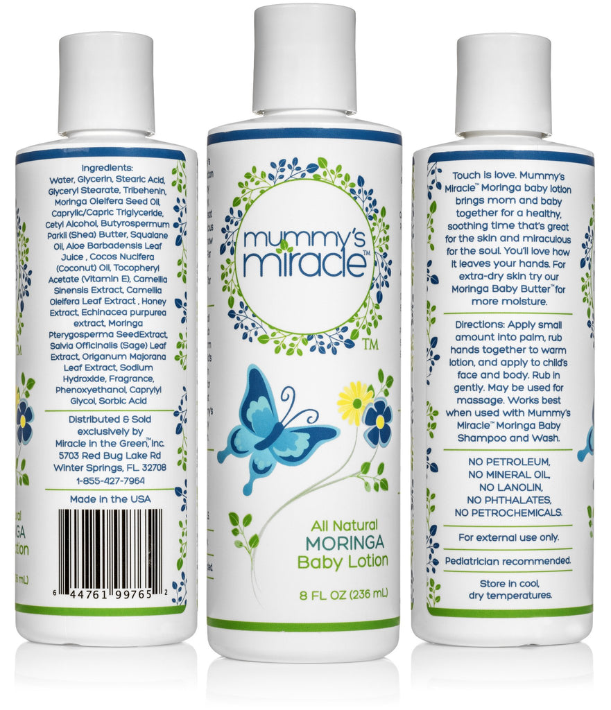Mummy's Miracle Moringa Baby Lotion 8oz All Natural Hypoallergenic Toxic-free  15.00% Off Auto renew