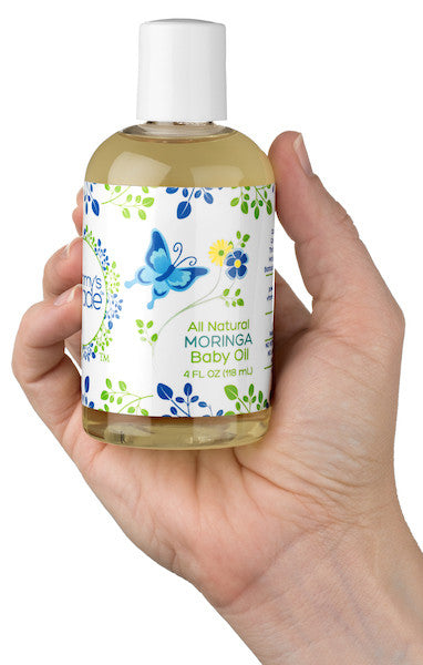 Mummy's Miracle Moringa Baby Oil 4oz All Natural Sensitive Skin Hypoallergenic