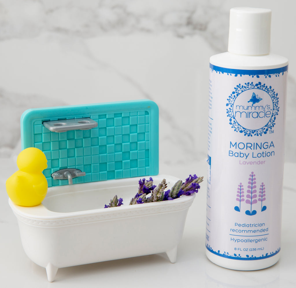 Mummy's Miracle Moringa Baby Lotion Lavender 8oz All Natural Hypoallergenic Toxic-free