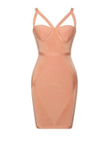 Karlie Cleavage Cutout Detail Bandage Dress - Miss Circle