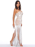Become The One White Lace Long Fringed Strapless Dress - Miss Circle