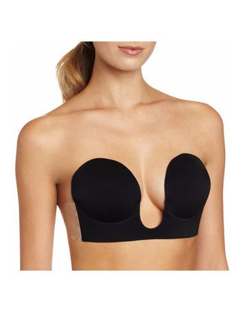 Black Backless Strapless U Plunge Bra