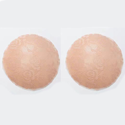 Beige Lace Silicone Reusable Invisible Self-Adhesive Nipple Covers