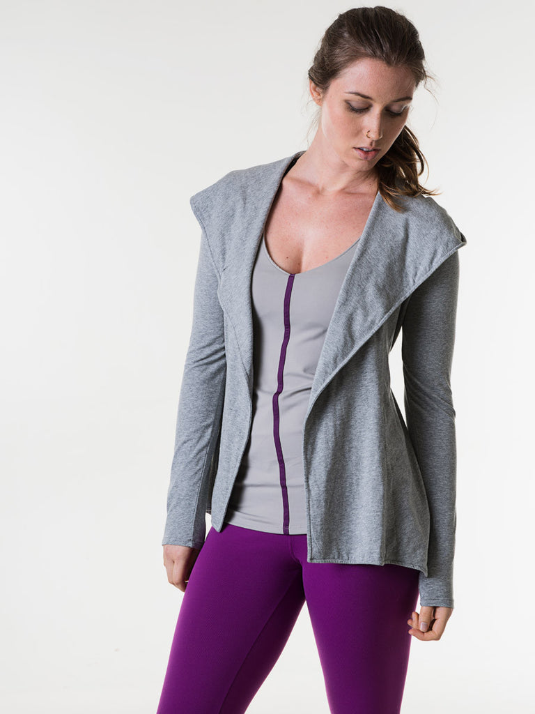 Alexa Wrap in Heather Gray