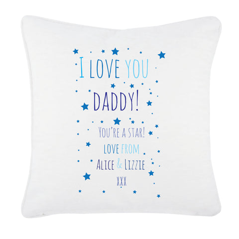 FD03 - I Love You Daddy (Stars), Father's Day Cushion Cover
