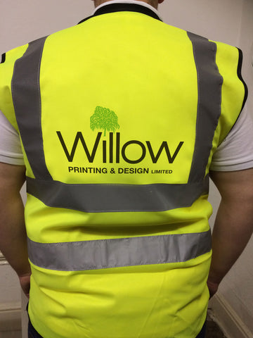 Branded Company Hi Vis Vest, personalised with company details