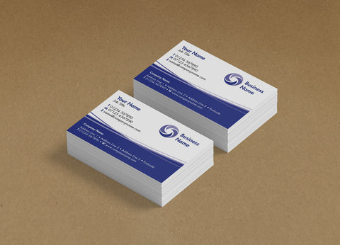WBP01 - Curved Lines Branded Customisable Business Cards from £20.00+VAT