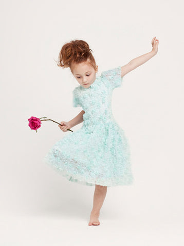 size 1,2 - Grace Flower Girl Dress - mint
