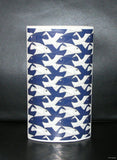 M.C. Escher # VASE FISH/BIRDS blue #mint, ltd.ed.371/ 450