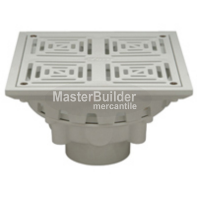 "Zurn FD2283-PV 10"" Square Top Decorative PVC Floor Drain"