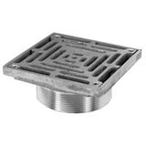 Zurn ZXN400-6H Heavy-Duty Square Nickle Bronze Floor Drains Strainer
