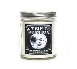 A TRIP TO THE MOON, Scented Candle, 8oz Jar - Werther & Gray