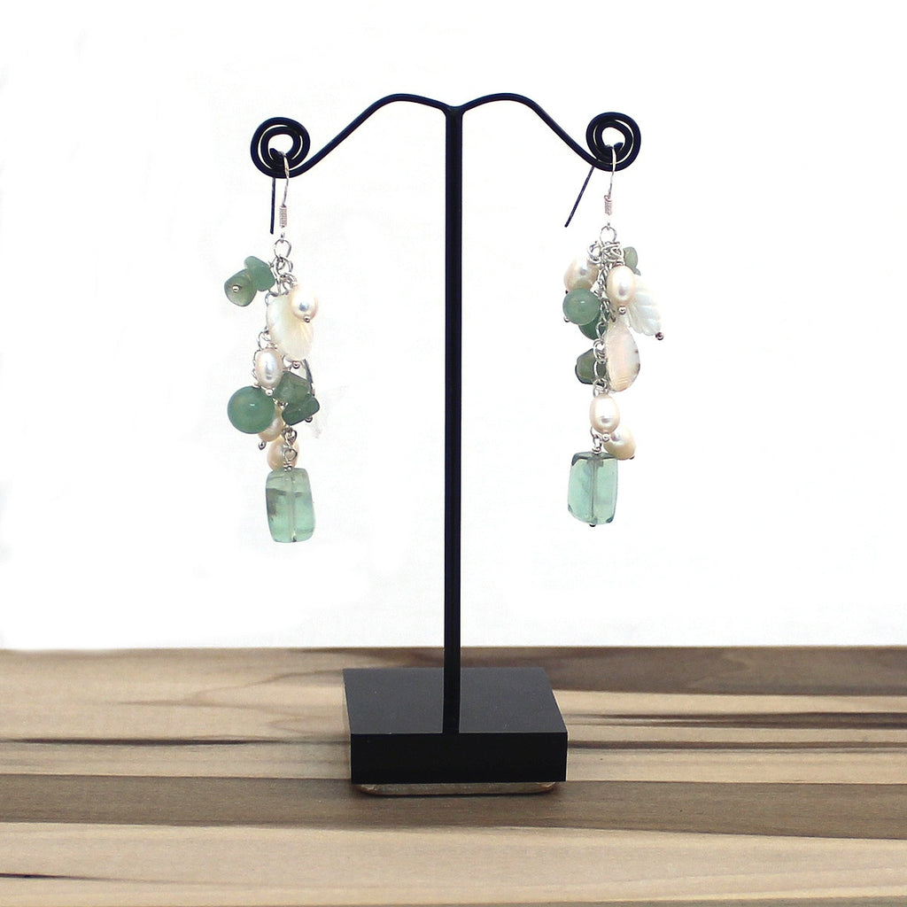 Jade Dreams Cluster Earrings