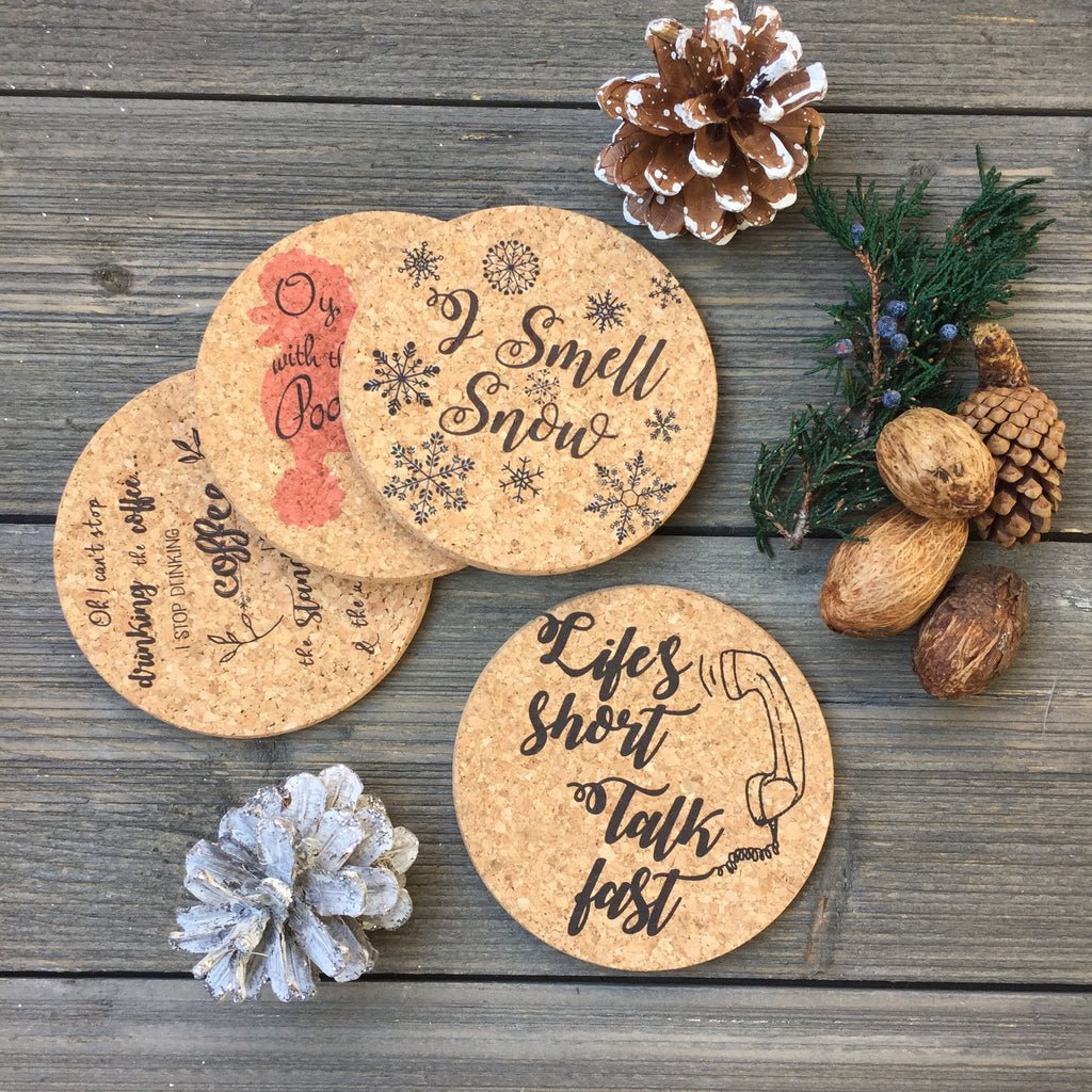 Lorelai Quotes Cork Coaster Set of 4