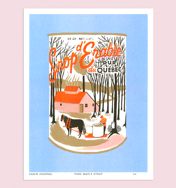 PURE MAPLE SYRUP ART PRINT
