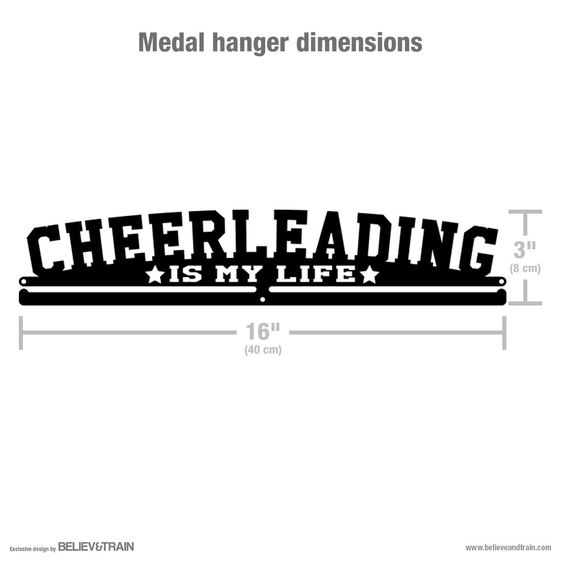 Cheerleading is my Life - Cheerleading Medal Hanger