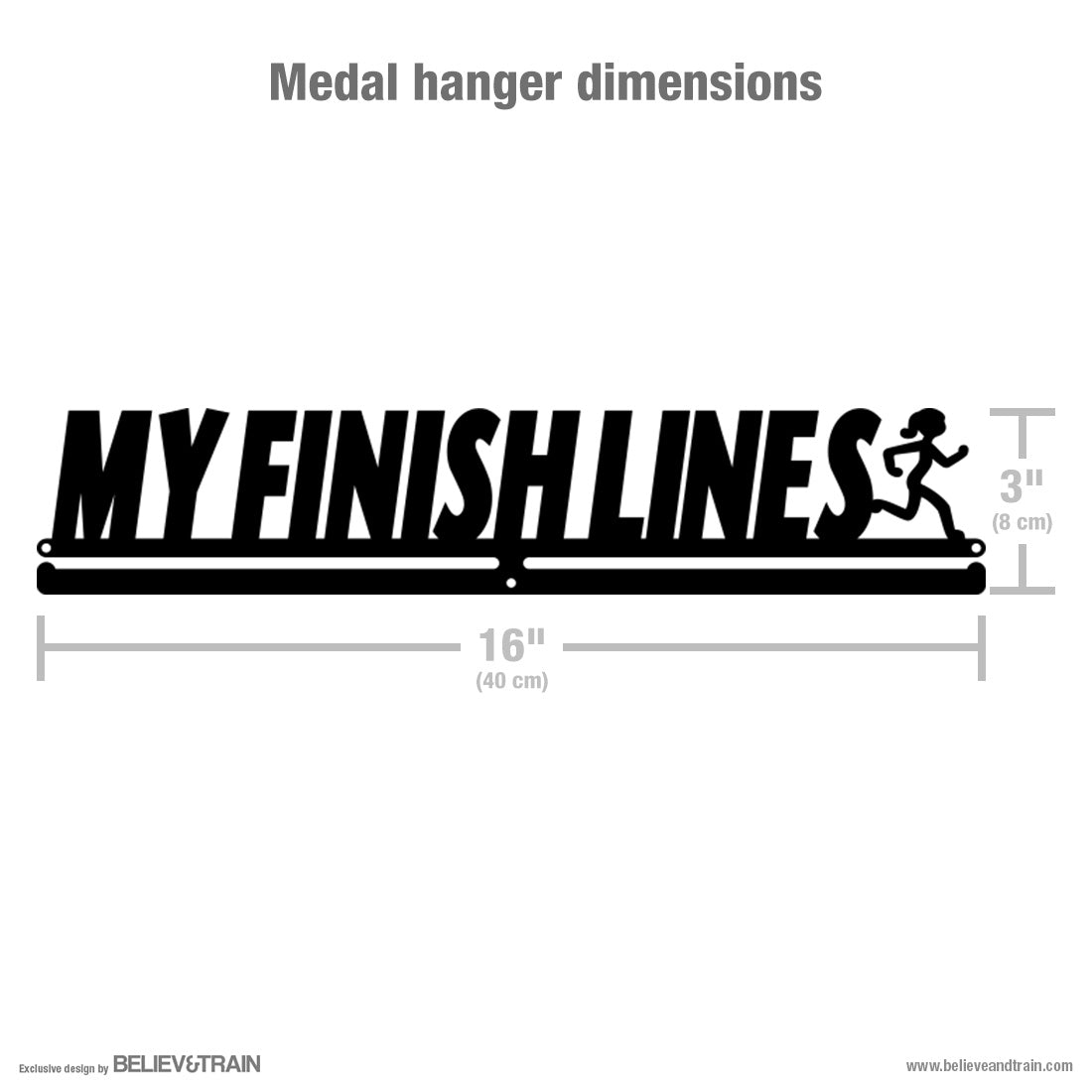 My Finish Lines Women - Running Medal Hanger