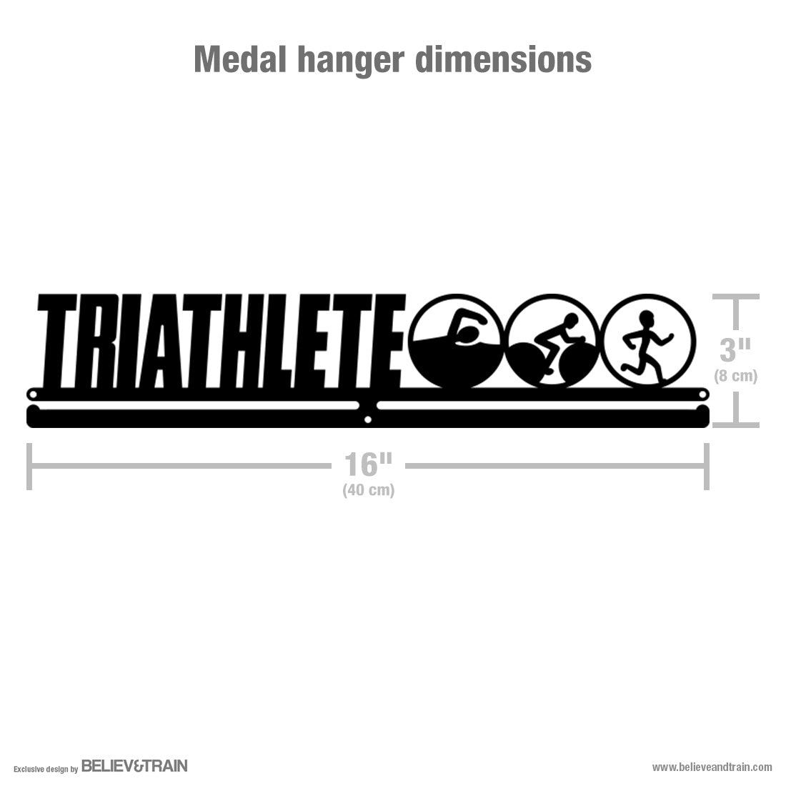 Triathlete - Triathlon Medal Hanger