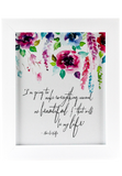Beautiful Life Framed Poster