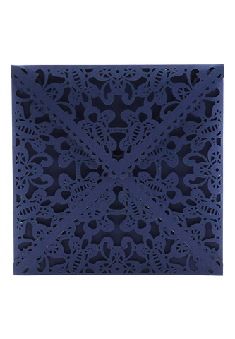 Lace Envelope Square - Navy