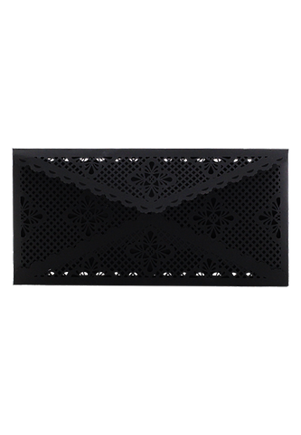 Lace Envelope DL - Black