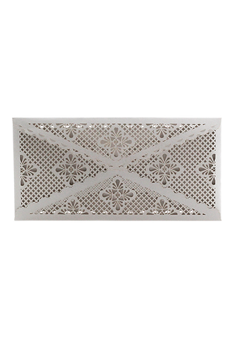 Lace Envelope DL - Silver
