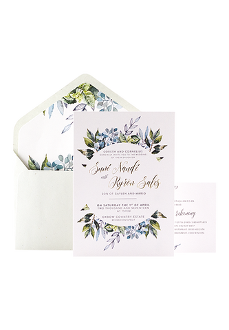 Honeymilk Invitation - Foiled