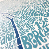 Map of Paris blue/dark blue, Ursula Hitz - CultureLabel
