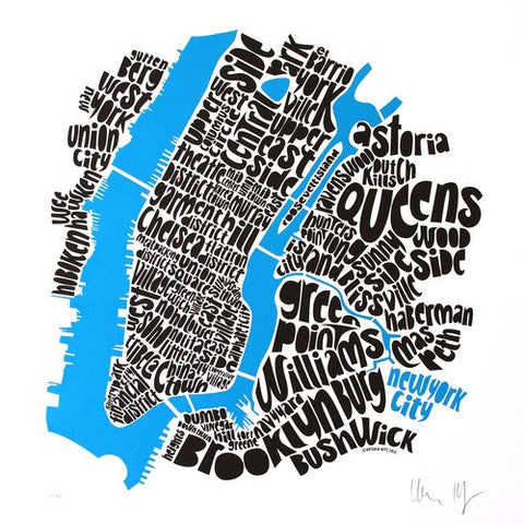Map of NYC - small, Ursula Hitz - CultureLabel