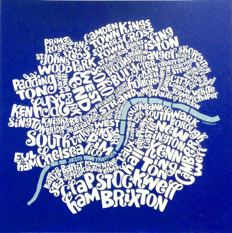 Map of Central London, Ursula Hitz - CultureLabel