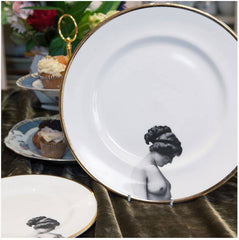 The Girl Bone China Plate, Melody Rose Alternate View