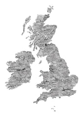 Great British Type Map, Run For The Hills