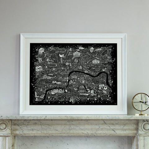 Film London Map Art Print (2017 Edition), Run For The Hills - CultureLabel