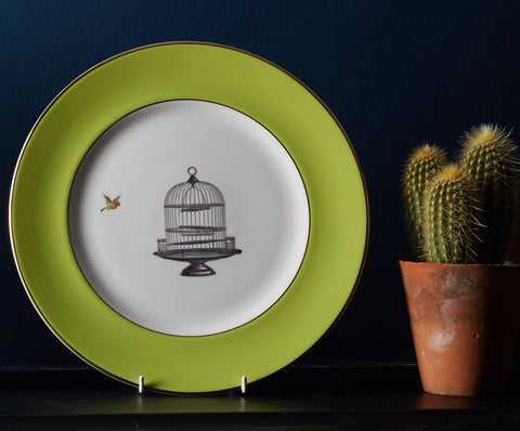 Green Birdcage Dinner Plate, Melody Rose - CultureLabel