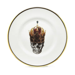 The Skull in Crown Bone China Plate, Melody Rose
