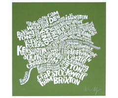 Map of Central London - Green, Ursula Hitz