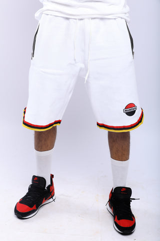 WHITE PUSHAS BASKETBALL SHORTS
