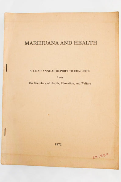 MARIJUANA AND HEALTH | Second Annual Report To Congress